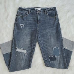 Ann Taylor Loft Raw Cuffed Modern Straight Jeans